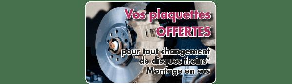 Vos plaquettes offertes pour tout changement de disques freins dans votre centre auto à Point S 67 Saverne, Niedermodern et Schweighouse